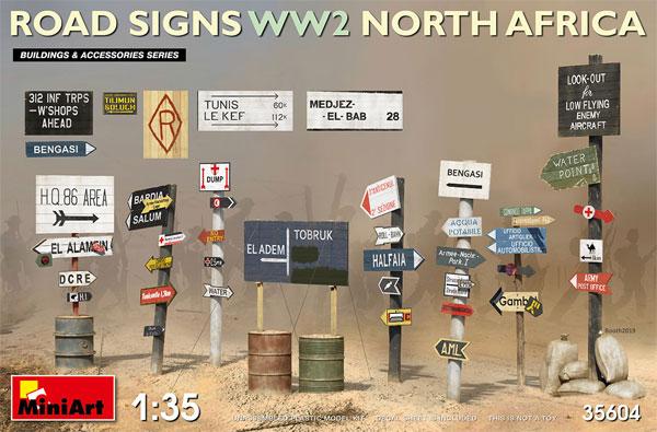 道路標識 WW2 北アフリカプラモデル(ミニアート1/35 ビルディング&アクセサリー シリーズNo.35604)商品画像