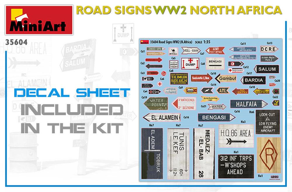 道路標識 WW2 北アフリカプラモデル(ミニアート1/35 ビルディング&アクセサリー シリーズNo.35604)商品画像_1