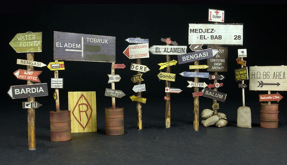道路標識 WW2 北アフリカプラモデル(ミニアート1/35 ビルディング&アクセサリー シリーズNo.35604)商品画像_2