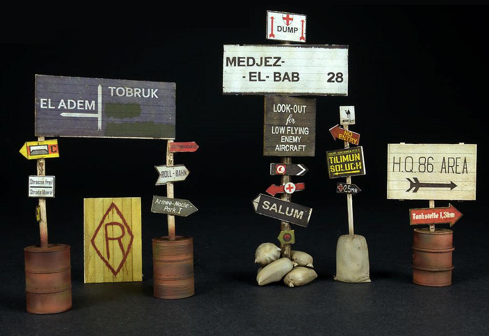 道路標識 WW2 北アフリカプラモデル(ミニアート1/35 ビルディング&アクセサリー シリーズNo.35604)商品画像_4