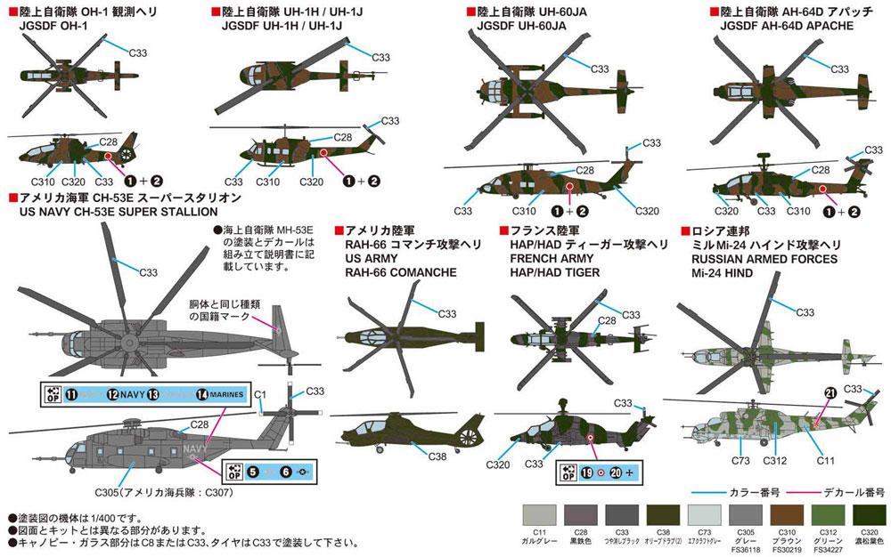 世界の軍用ヘリコプタープラモデル(ピットロードスカイウェーブ S シリーズNo.S054)商品画像_1