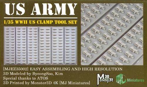 WW2 アメリカ軍 クランプツールセットプラモデル(MJ ミニチュア3Dプリンタ キットNo.MJEZ35002)商品画像