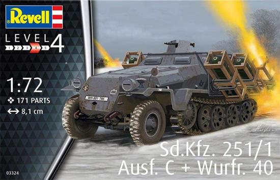 Sd.Kfz.251/1 Ausf.C ヴルフラーメン 40装備型プラモデル(レベル1/72 ミリタリーNo.03324)商品画像