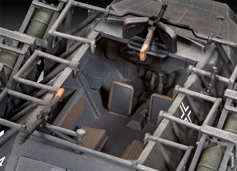 Sd.Kfz.251/1 Ausf.C ヴルフラーメン 40装備型プラモデル(レベル1/72 ミリタリーNo.03324)商品画像_4