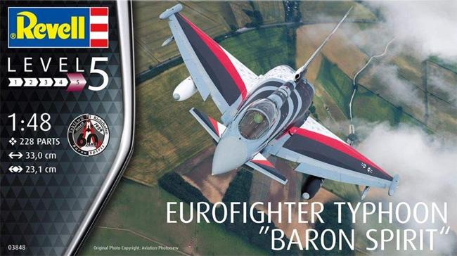 ユーロファイター タイフーン バロン スピリットプラモデル(レベル1/48 飛行機モデルNo.03848)商品画像