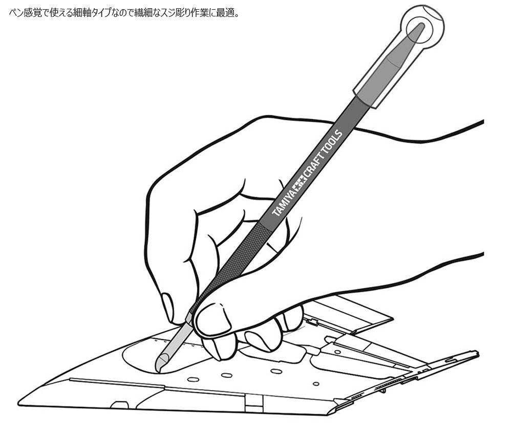 スジ彫りブレードホルダー (レッド)ホルダー(タミヤタミヤ クラフトツールNo.89984)商品画像_2
