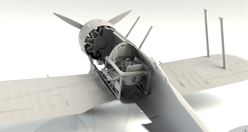 グロスター グラジエーター Mk.2プラモデル(ICM1/32 エアクラフトNo.32041)商品画像_3