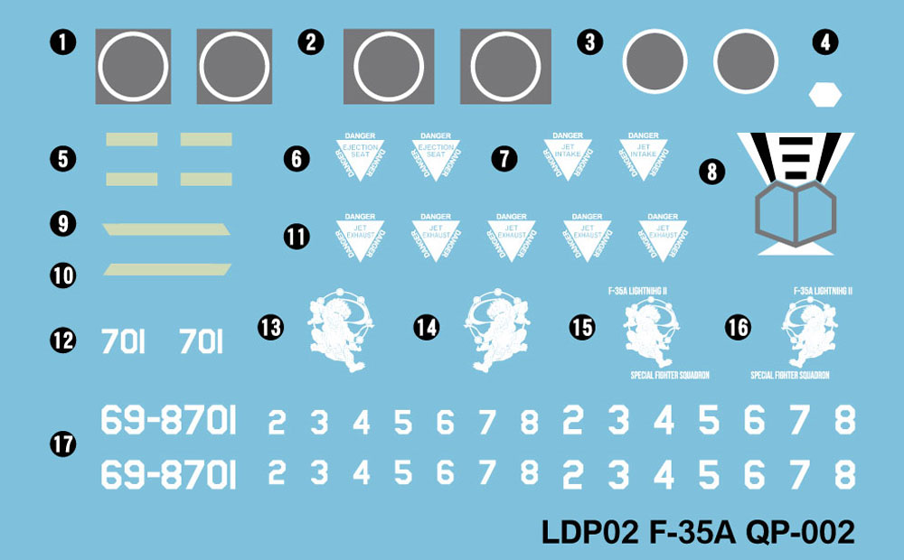 航空自衛隊 戦闘機 F-35A 自衛官 三沢ねむ 3等空曹 迷彩服 フィギュア付き限定版プラモデル(グレートウォールホビーデフォルメプレーンNo.LDP002SP002)商品画像_2