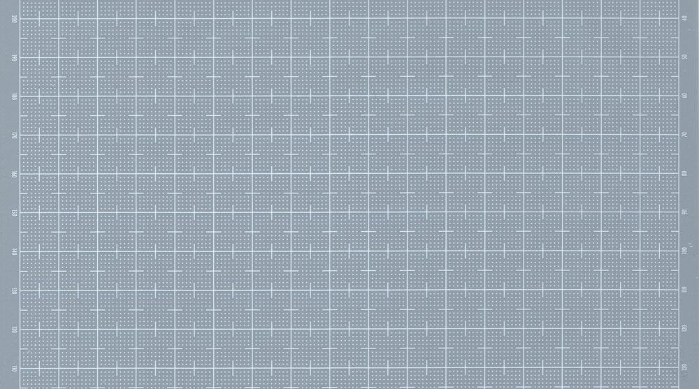プラ=プレート (グレー) 目盛付き (目盛印刷色:ホワイト) (厚さ:0.8mm)プラ板(ウェーブマテリアルNo.OM-304)商品画像_1