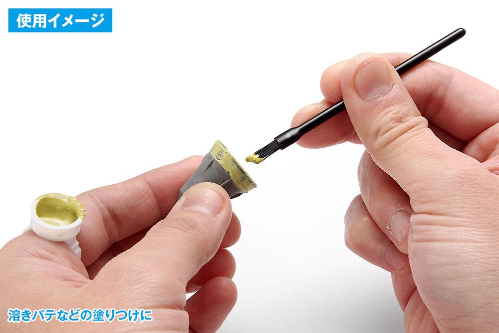 使いきりタイプ ミニ平筆 ななめカット筆(ウェーブホビーツールシリーズNo.OF-054)商品画像_3