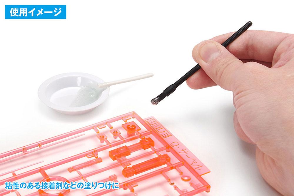 使いきりタイプ ミニ平筆 ななめカット筆(ウェーブホビーツールシリーズNo.OF-054)商品画像_4
