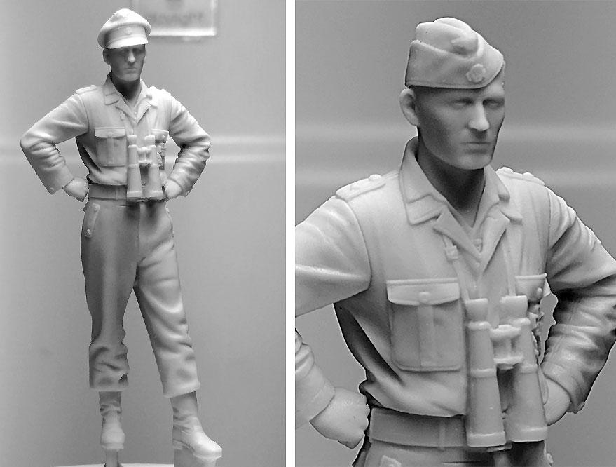 WW2 ドイツ 武装親衛隊 戦車搭乗員 士官レジン(アルパイン1/35 フィギュアNo.AM35272)商品画像_2
