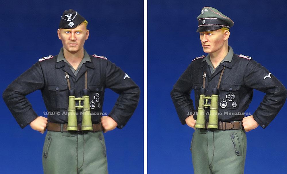 WW2 ドイツ 武装親衛隊 戦車搭乗員 士官レジン(アルパイン1/35 フィギュアNo.AM35272)商品画像_3
