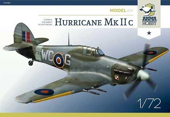 ホーカー ハリケーン Mk.2cプラモデル(アルマホビー1/72 エアクラフト プラモデルNo.70036)商品画像