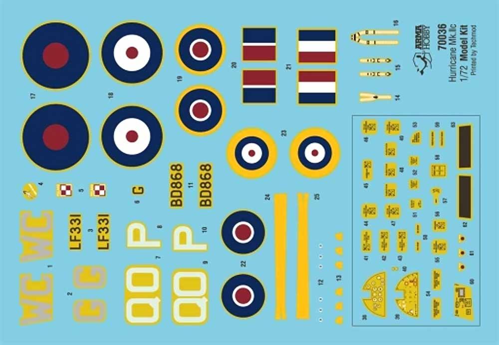 ホーカー ハリケーン Mk.2cプラモデル(アルマホビー1/72 エアクラフト プラモデルNo.70036)商品画像_2
