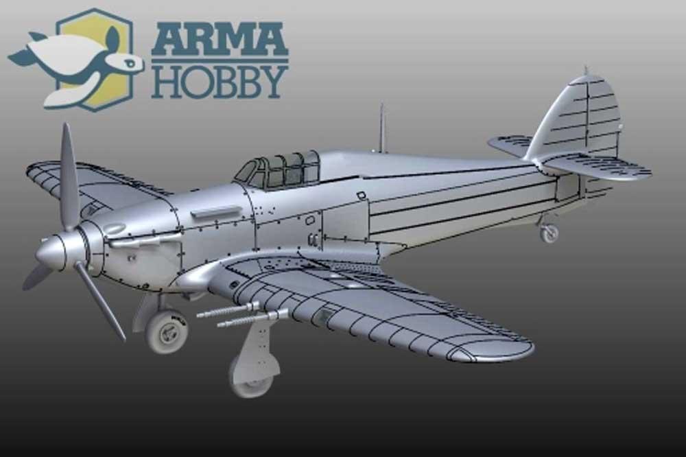 ホーカー ハリケーン Mk.2cプラモデル(アルマホビー1/72 エアクラフト プラモデルNo.70036)商品画像_3
