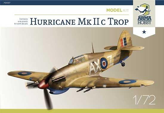 ホーカー ハリケーン Mk.2c トロピカルプラモデル(アルマホビー1/72 エアクラフト プラモデルNo.70037)商品画像