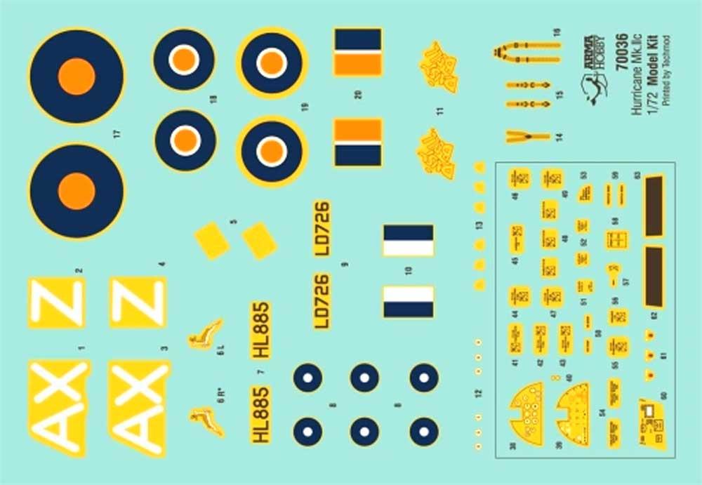 ホーカー ハリケーン Mk.2c トロピカルプラモデル(アルマホビー1/72 エアクラフト プラモデルNo.70037)商品画像_2