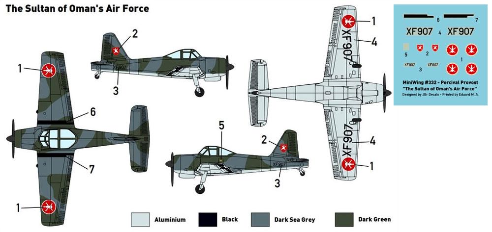 パーシヴァル プロヴォスト T.52 オマーン空軍プラモデル(ミニウイング1/144 インジェクションキットNo.mini332)商品画像_1