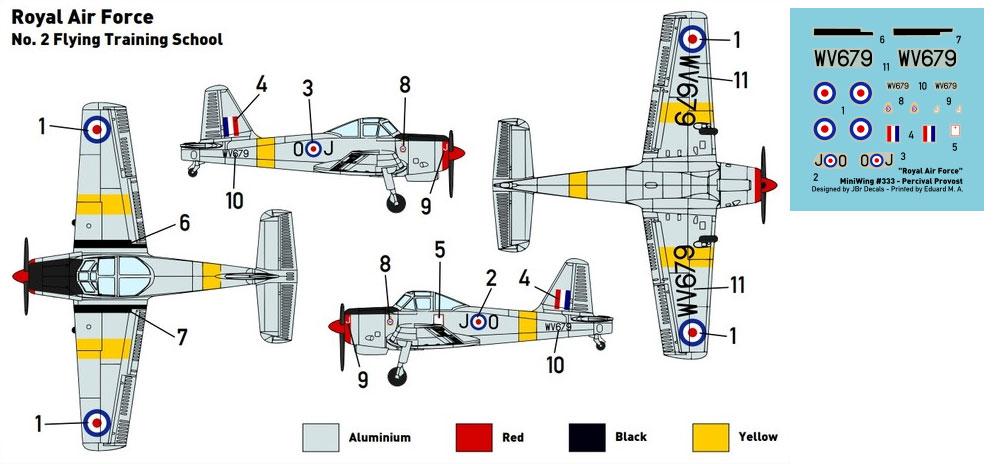 パーシヴァル プロヴォスト T.1 イギリス空軍プラモデル(ミニウイング1/144 インジェクションキットNo.mini333)商品画像_1
