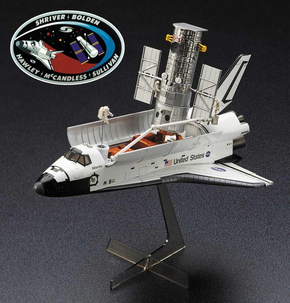ハッブル宇宙望遠鏡 & スペースシャトル オービター w/宇宙飛行士 STS-31 エンブレムワッペン付属プラモデル(ハセガワ1/200 スペースサイエンス シリーズNo.SP455)商品画像_2