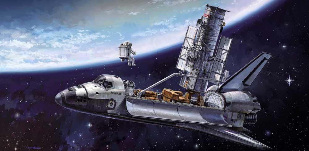 ハッブル宇宙望遠鏡 & スペースシャトル オービター w/宇宙飛行士 STS-31 エンブレムワッペン付属プラモデル(ハセガワ1/200 スペースサイエンス シリーズNo.SP455)商品画像_4