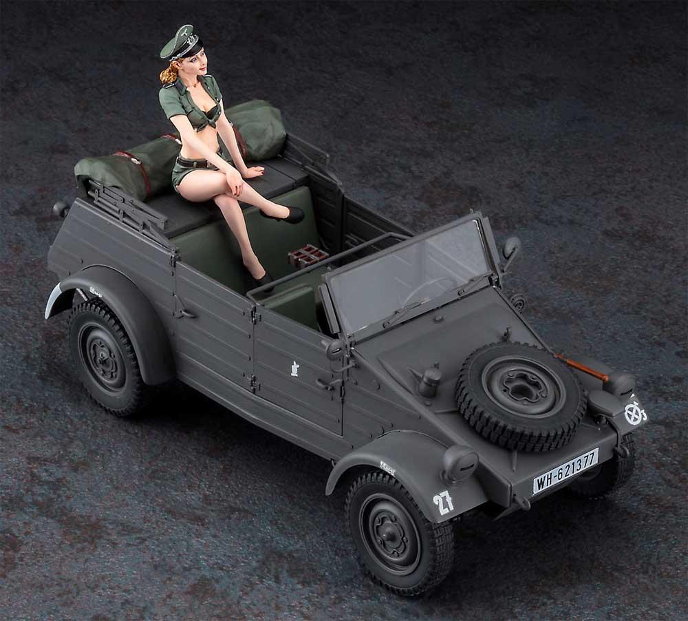 Pkw.K1 キューベルワーゲン 82型 w/ブロンドガールズフィギュアプラモデル(ハセガワ1/24 自動車 HRシリーズNo.SP453)商品画像_3