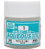 GSIクレオス水性ホビーカラー AQUEOUSホワイト (白) 光沢 (H-1)