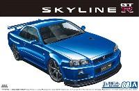 アオシマ1/24 ザ・モデルカーニッサン BNR34 スカイライン GT-R V-spec2 '02