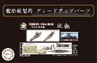 フジミ1/700 艦船模型用グレードアップパーツ日本海軍 戦艦 比叡 エッチングパーツ w/艦名プレート