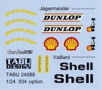 タブデザイン1/24 デカールポルシェ 934 イェーガーマイスター/ヴァイラント オプションデカール