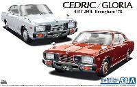 アオシマ1/24 ザ・モデルカーニッサン P332 セドリック/グロリア 4HT 280E ブロアム '78