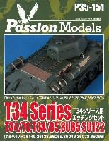 パッションモデルズ1/35 シリーズT34シリーズ用 エッチングセット T34/T76、T34/85、 SU85、SU122 (タミヤ対応)