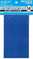 円形メタリックシール M (3.0-4.6mm) ブルー