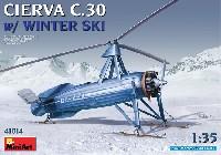 ミニアートエアクラフトミニチュアシリーズシェルヴァ C.30 雪上スキー仕様