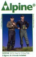 WW2 ドイツ 武装親衛隊 戦車搭乗員セット (2体セット)
