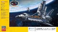 ハッブル宇宙望遠鏡 & スペースシャトル オービター w/宇宙飛行士 STS-31 エンブレムワッペン付属
