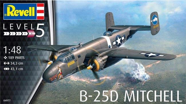 B-25D ミッチェルプラモデル(レベル1/48 飛行機モデルNo.04977)商品画像