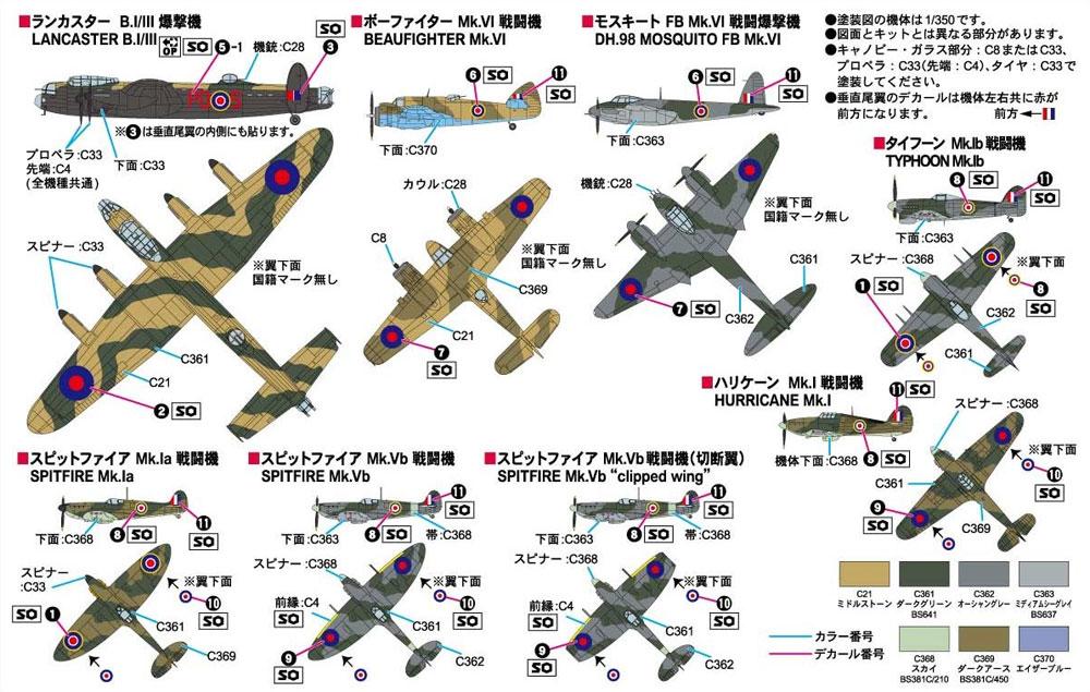 WW2 イギリス空軍機セット 1 ソードフィッシュ雷撃機 4機付き 限定版プラモデル(ピットロードスカイウェーブ S シリーズ (定番外)No.S032SI)商品画像_1