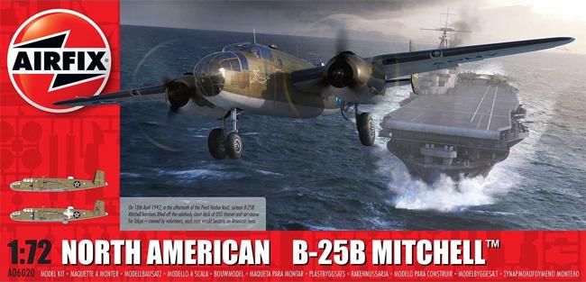 ノースアメリカン B-25B ミッチェルプラモデル(エアフィックス1/72 ミリタリーエアクラフトNo.A06020)商品画像