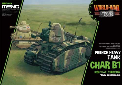 シャール B1 フランス重戦車プラモデル(MENG-MODELWORLD WAR TOONSNo.WWT-016)商品画像