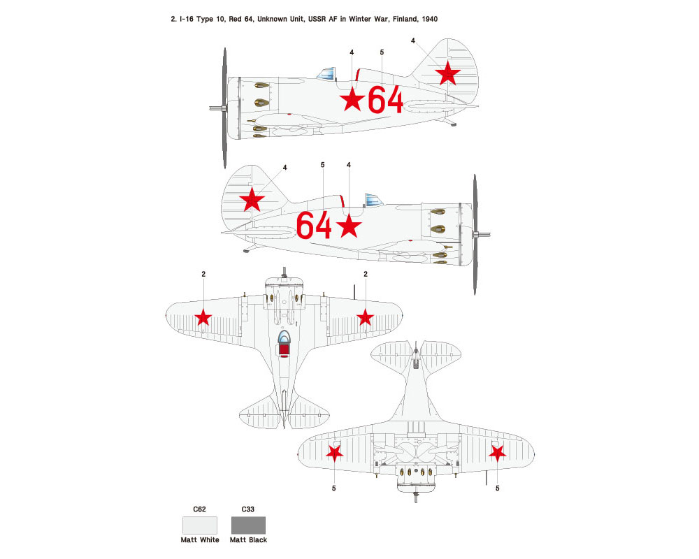 ポリカリポフ I-16 Type10 Part.1 VVS (ICM対応)デカール(ウルフパック1/32 デカール (WD)No.WD32007)商品画像_3