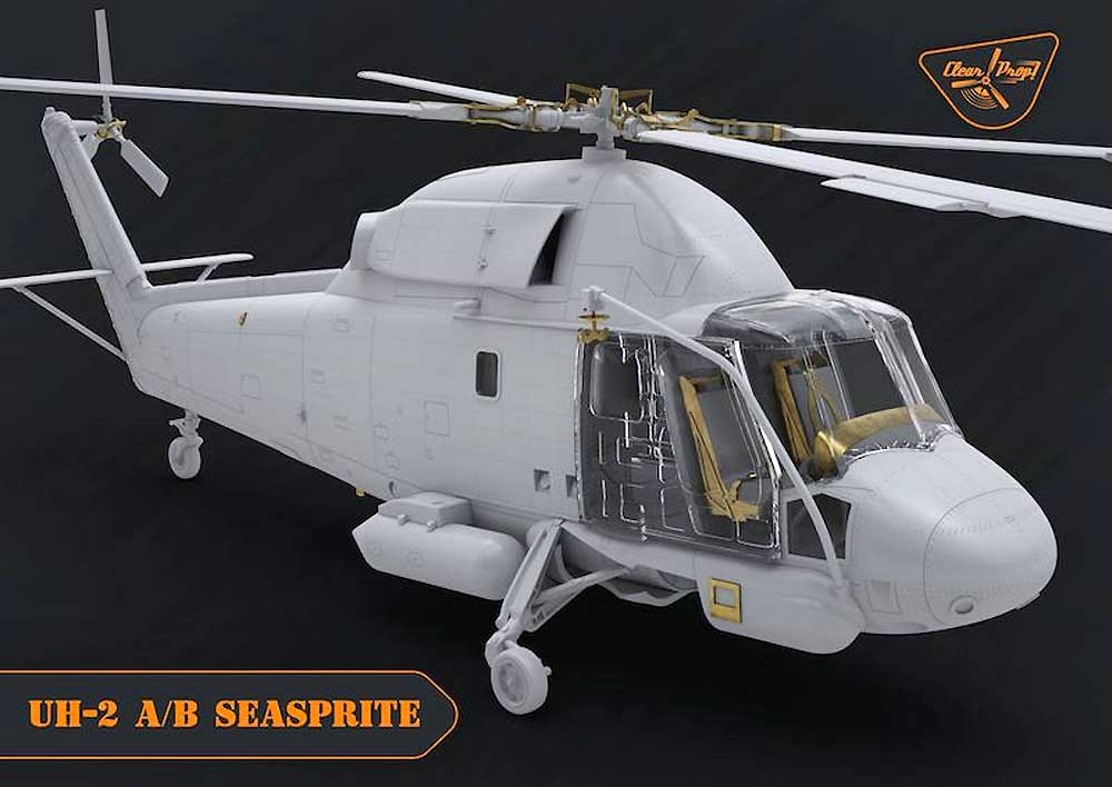 UH-2A/B シースプライトプラモデル(クリアープロップ1/72 スケールモデルNo.CP72002)商品画像_2