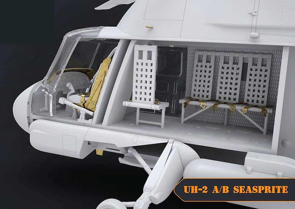 UH-2A/B シースプライトプラモデル(クリアープロップ1/72 スケールモデルNo.CP72002)商品画像_4