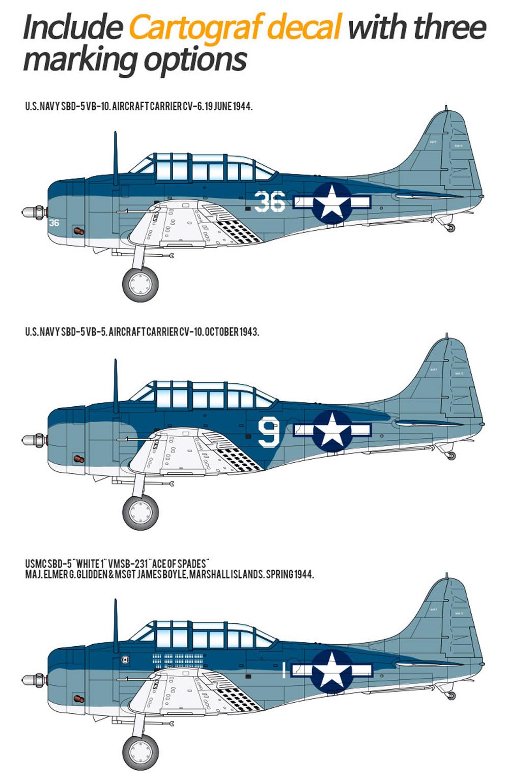 アメリカ海軍 SBD-5 ドーントレス マリアナ沖海戦プラモデル(アカデミー1/48 Scale AircraftsNo.12329)商品画像_1