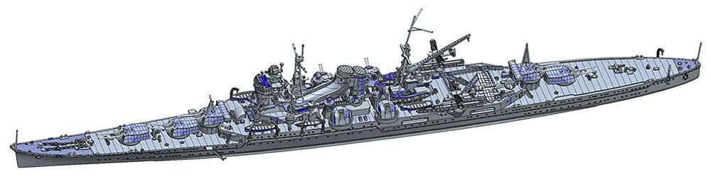 日本海軍 重巡洋艦 熊野 昭和17年プラモデル(フジミ1/700 特シリーズNo.020)商品画像_1