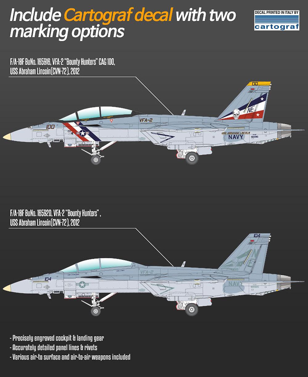 アメリカ海軍 F/A-18F スーパーホーネット VFA-2 バウンティハンターズプラモデル(アカデミー1/72 Scale AircraftsNo.12567)商品画像_1