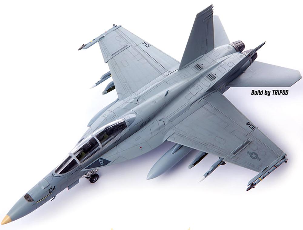 アメリカ海軍 F/A-18F スーパーホーネット VFA-2 バウンティハンターズプラモデル(アカデミー1/72 Scale AircraftsNo.12567)商品画像_3