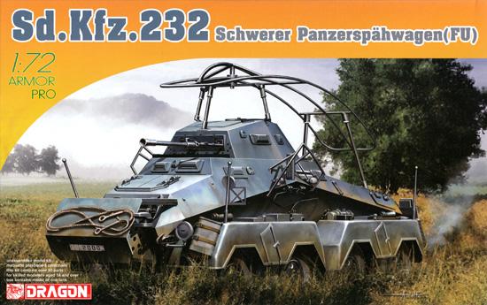 ドイツ Sd.Kfz.232 8輪装甲無線車プラモデル(ドラゴン1/72 ARMOR PRO (アーマープロ)No.7581)商品画像