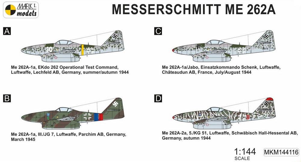 メッサーシュミット Me262A 戦闘爆撃機 2in1プラモデル(MARK 1MARK 1 modelsNo.MKM144116)商品画像_1